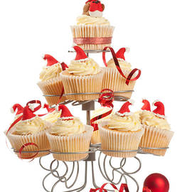 Christopher and Amanda Elwell - Christmas Cupcakes On Stand