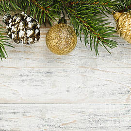 Elena Elisseeva - Christmas ornaments on fir branch