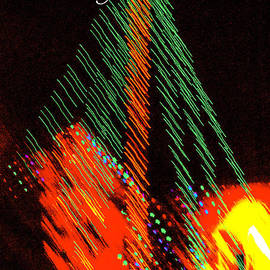 Jerry Cowart - Christmas Tree lights Fine Art Print Greeting Card