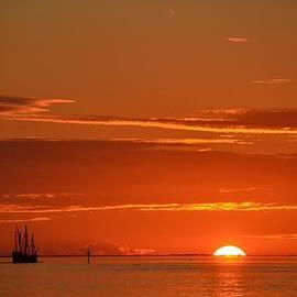 Jeff at JSJ Photography - Christopher Columbus Replica Wooden Sailing Ship Nina Sails off into the Sunset