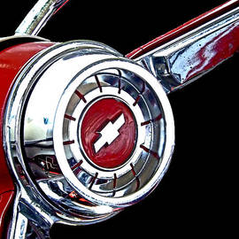 Kristie  Bonnewell - Chrome and Red Chevy Wheel