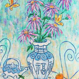 Xueling Zou - Chrysanthemum Study with Chinese Symbols