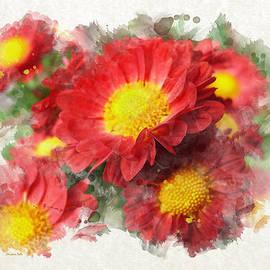 Christina Rollo - Chrysanthemum Watercolor Art