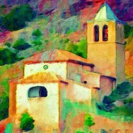 Lyn Voytershark - Church in Riglos Spain - Square