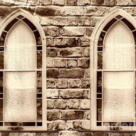 Cheryl Young - Church Windows Sepia 1