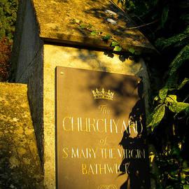 Robert Ford - Churchyard Gate Signpost St Mary Virgin Bathwick Smallcombe Bath Somerset England