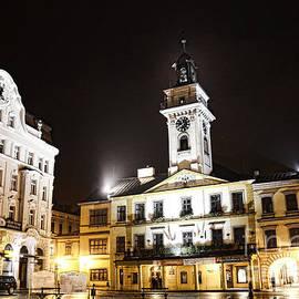 Mariola Bitner - Cieszyn Town Center At Night