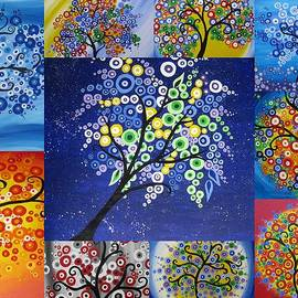 Cathy Jacobs - Circle Tree Collage