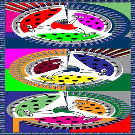 Navin Joshi - Circular Abstract ART CASINO Lucky Dice Game Show