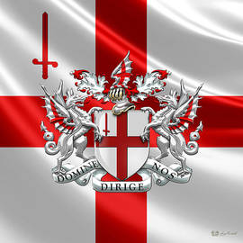Serge Averbukh - City of London - Coat of Arms over Flag
