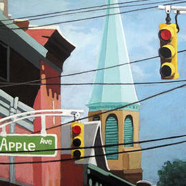 Linda Apple - City Power architecture high wires city tower