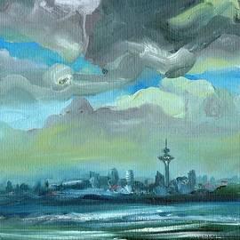 Ekaterina Chernova - City Skyline Impressionist Painting