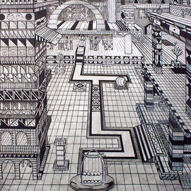 Eric David - Cityscape inspired by Sir Isaac Newton