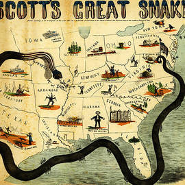 MotionAge Designs - Civil War Map Scott s Great Snake 1861