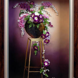 Lan phuong Mai - Clay flowers in still life painting