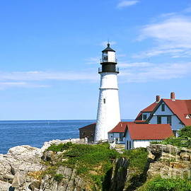 Nancy Patterson - Clear Day At Portland Head Light