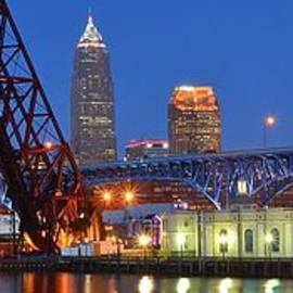 Frozen in Time Fine Art Photography - Cleveland Blue Hour Panoramic