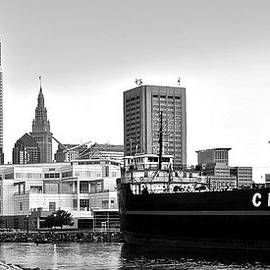 Frozen in Time Fine Art Photography - Cleveland Ohio Black and White Panorama