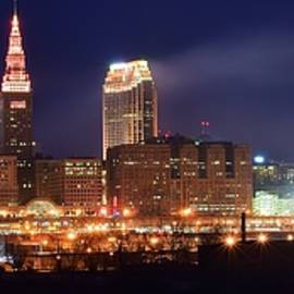 Frozen in Time Fine Art Photography - Cleveland Panoramic Night