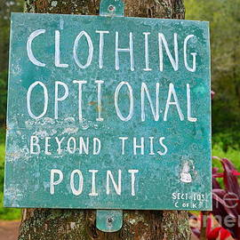 Catherine Sherman - Clothing Optional Kauai Sign