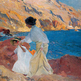 Joaquin Sorolla y Bastida - Clotilde and Elena on the Rocks