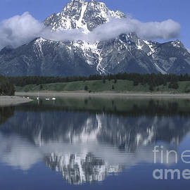 Sandra Bronstein - Clouds and Mt. Moran - Grand Teton