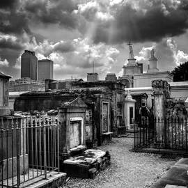 Chrystal Mimbs - Cloudy Day at St. Louis Cemetery in Black and White