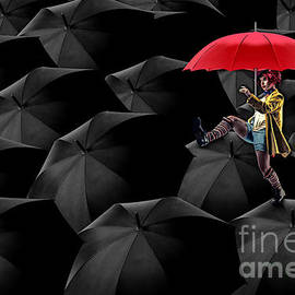 Variance Collections - Clowning on Umbrellas 02 -a13