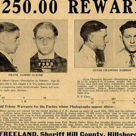 Unknown - Clyde Barrow Wanted Poster