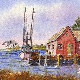 Barry Jones - Shrimp Boat - Boat House - Coastal Dock
