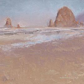 Karen Whitworth - Coastal Escape  Cannon Beach Oregon and Haystack Rock