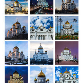 Alexander Senin - Collage - Cathedral of Christ the Savior Of Moscow - Russia - Featured 3