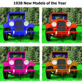Bruce Nutting - Collage of New Model 1928 Cars