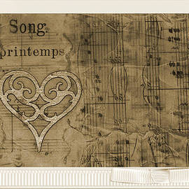 Collage Of Vintage Sheet Music - Beeswax