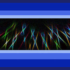 ImagesAsArt Photos And Graphics - Color Light Rays Framed In Blue Hues