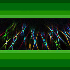 ImagesAsArt Photos And Graphics - Color Lightrays Framed In Green Hues