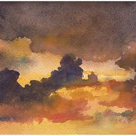 Anne Gifford - Colorado Clouds in Orange Sky