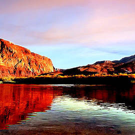 Bob and Nadine Johnston - Colorado River Lees Ferry Painting