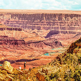 Bob and Nadine Johnston - Colorado River One Mile Below and 18 miles across The Grand Canyon