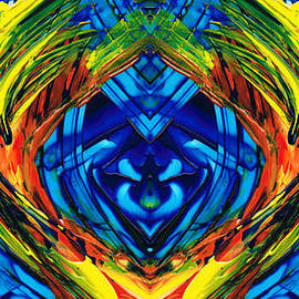Sharon Cummings - Colorful Abstract Art - Purrfection - By Sharon Cummings