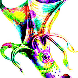 Eti Reid - Colorful abstract octopus