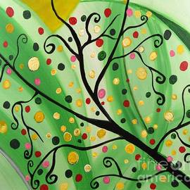 Saribelle Rodriguez - Colorful Abstract Tree Acrylic Painting Art  by Saribelle Rodriguez