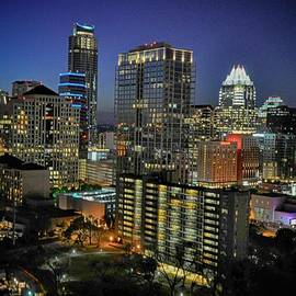 Kristina Deane - Colorful Austin Skyline at Night