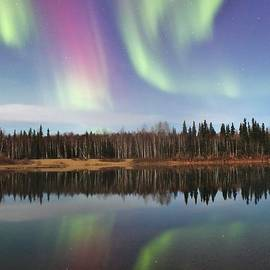 David Broome - Colorful Boreal Aurora Reflections