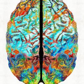 Sharon Cummings - Colorful Brain Art - Just Think - By Sharon Cummings