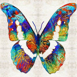 Sharon Cummings - Colorful Butterfly Art by Sharon Cummings