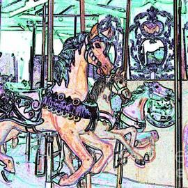 Annie Zeno - Colorful Carousel Horses