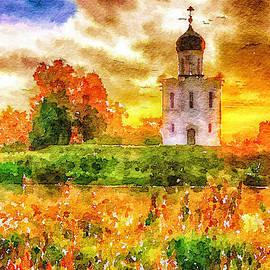 Yury Malkov - Colorful Church Sunset