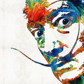 Sharon Cummings - Colorful Dali Art by Sharon Cummings