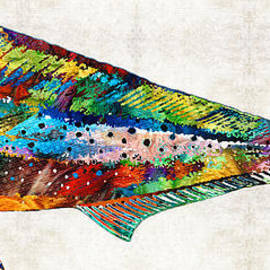 Sharon Cummings - Colorful Dolphin Fish by Sharon Cummings